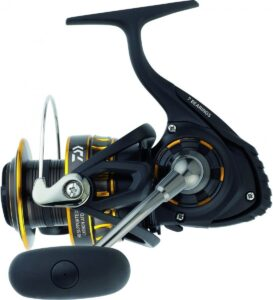 side view of the daiwa bg 2500 saltwater spinning reel
